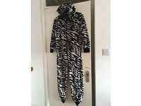 Next hooded zebra onesie