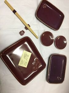 Hand Made Pottery Sushi Dishes