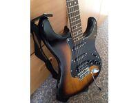 Electric acoustic fender guitar starter set