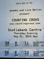 TWO 8TH row tickets to Counting Crows TONIGHT!