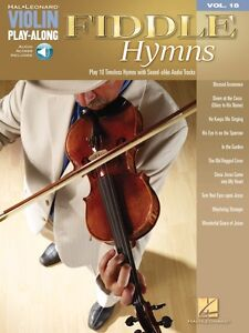 Fiddle Hymns Sheet Music Violin Play-Along Book and Audio NEW 000842499