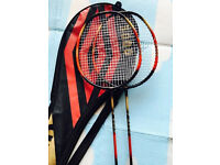 Two quality carbon lightweight badminton rackets, immaculate, take both for only £35