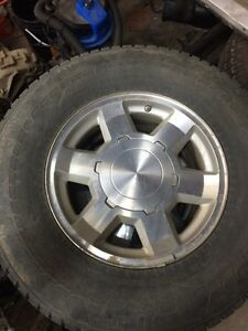 "Factory gmc 17"" w/nokian winter tires w/sensors"