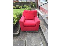 Free red armchair