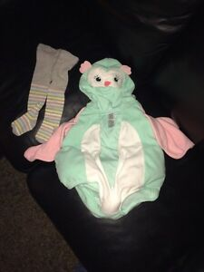 6-9m owl costume with tights.  Stratford Kitchener Area image 1