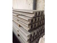 Concrete fence post concrete base panels