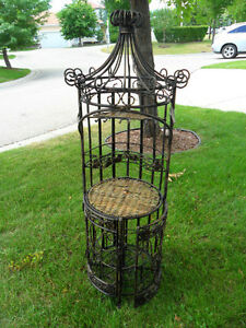 Exquisite Wrought Iron Wine Rack