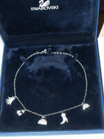 Genuine Swarovski Austrian Crystal Necklace with 5 Charms NEW