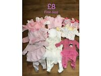 Baby girls clothes bundle - First size