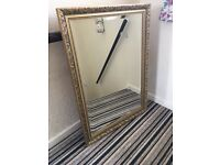 Large gold gilt framed mirror