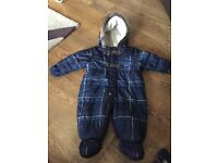 3-6 months baby boys snow suit