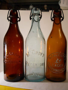 Antique Bottles 1850 - 1920 Druggist, Beer, Soda Kawartha Lakes Peterborough Area image 2