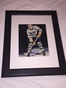 Ted Kennedy Signed Maple Leafs 8x10 Framed. Deceased