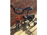 Boys toddler black bike with drinks holder