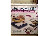 3 in 1 walker, pusher & musical jumper AND bath seat