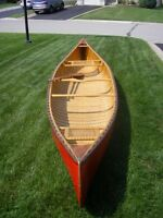 Mahogany canoe completely refurbished