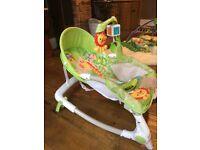 Fisher price rocker chair vibrates