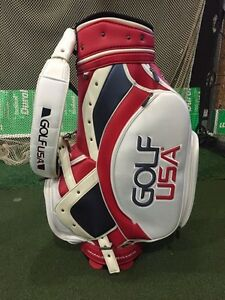 Golf USA Tour Staff bag, signed by Ray Bourque