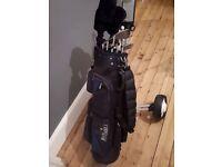 Complete golf set.