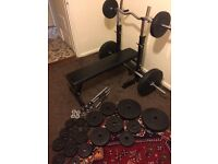 Bench with weights 120kg