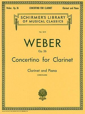 Concertino Clarinet (Concertino Op. 26 Clarinet and Piano Woodwind Solo NEW)