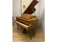 Max Bauer Baby Grand 5ft Art Cased || Belfast Pianos|| Belfast || satin wood| Free delivery ||