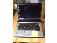 Toshiba windows 10 laptop 3gb ram & 500gb hard drive