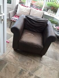 Single leather chair