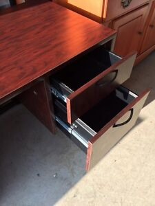 Solid wood Cherry colour desk with hutch  London Ontario image 2