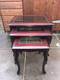 Mahogany Nest of Tables ( Can Deliver )
