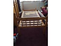 Single wooden bed (used)