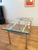 Structube Europa Table plus IKEA Chairs/Chaises