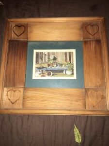 Country pictures with wooden frames