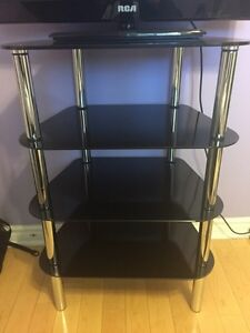 Tempered Glass and Crome TV/Electronics Stand