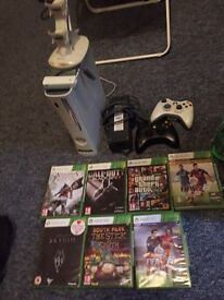 XBOX 360 | 7 GAMES | 2 CONTROLLERS | CHARGING STATION | WIFI CONNECTOR