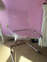 Clear IKEA chair