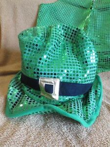 St Patrick's day costume (hat & vest) Adult Size NEW  Unisex for