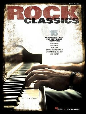 Rock Classics Sheet Music Easy Piano SongBook NEW -
