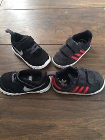 2 pairs size 4 infant trainers