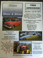 BRUNO 10TH ANNUAL SHOW AND SHINE JULY 26TH
