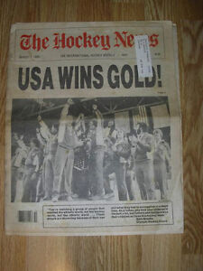 The Hockey News - USA Wins Gold - Miracle on Ice 1980 Windsor Region Ontario image 1