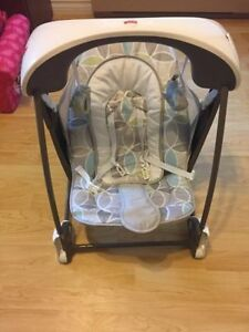 EUC Fisher-Price Deluxe Take Along Seat & Swing