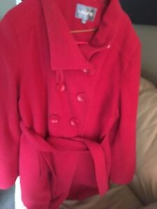 Red fall/winter jacket size 10  30$