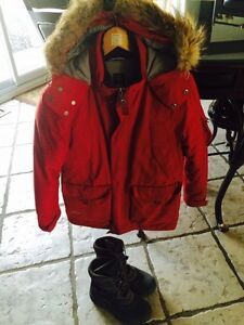 Boy's winter jacket and boots