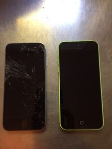 Two iPhone for sale. And a plan with bell