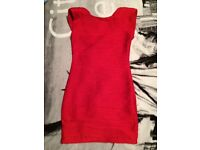 Red bodycon dress size 10