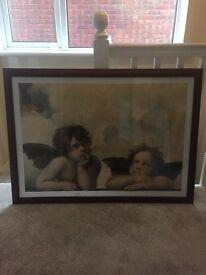 Large framed Angel picture