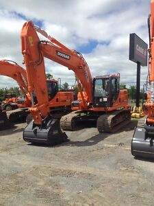 2014 DOOSAN DX180-3 0% FOR 36 MONTHS/3YR-5000HR WARRANTY