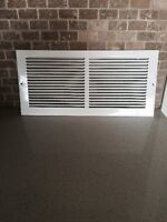 "151/2 "" x 71/2 "" All Steel Sidewall Grille - White"