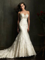 Allure ivory lace wedding dress